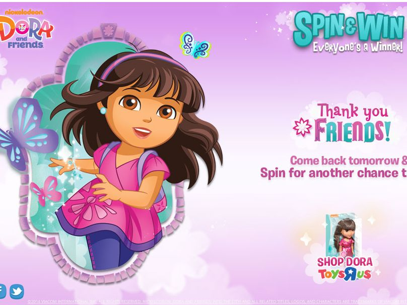 Toys 'R' Us Dora & Friends Spin & Win Sweepstakes
