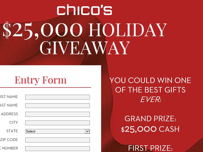 Chico's Boutique Black Friday Sweepstakes