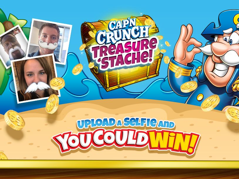 The Cap'n Crunch Treasure 'Stache Sweepstakes