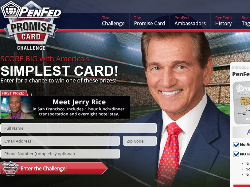 PenFed Promise Card Challenge Sweepstakes