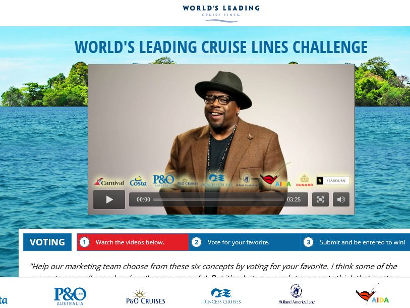 The Carnival Corporation Marketing Challenge Sweepstakes