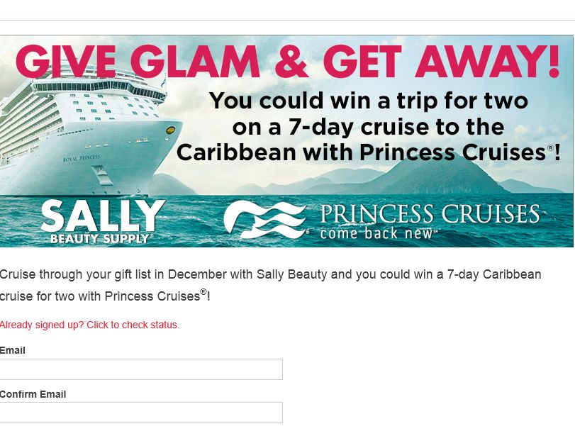 The Sally Beauty Cruise Through Your Gift List Sweepstakes