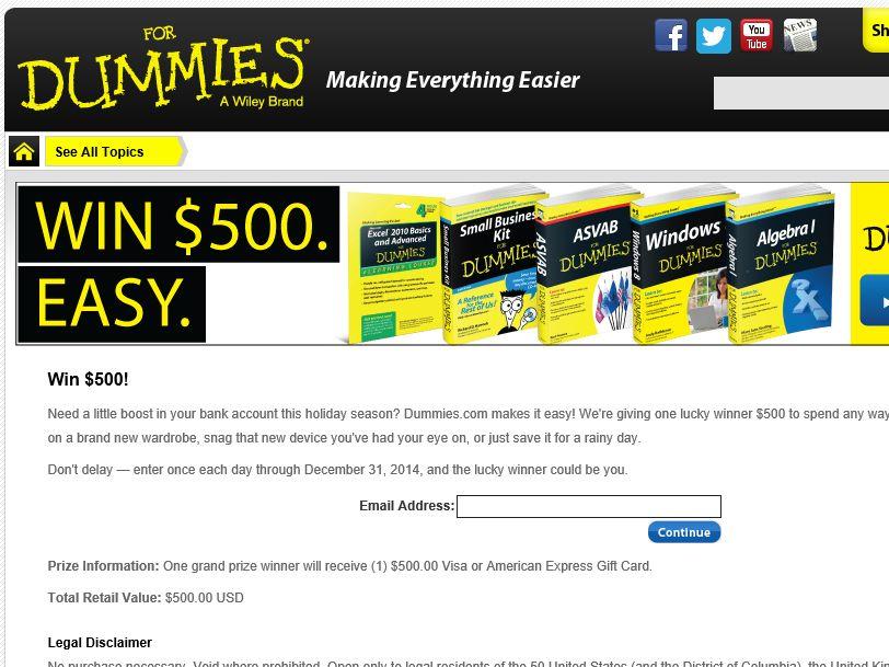 The Dummies.com Sweepstakes