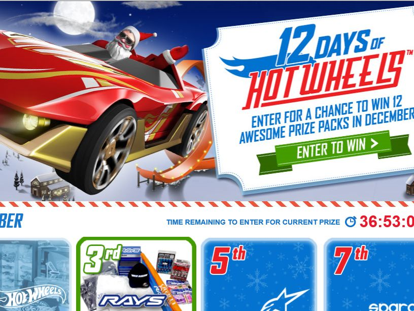 The 12 Days of Hot Wheels Sweepstakes