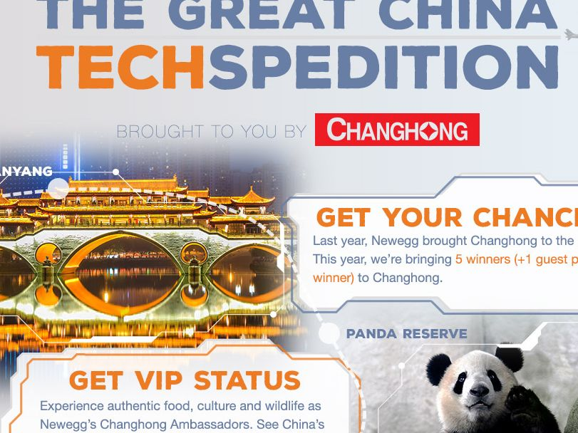 Newegg and Changhong The Great China TECHspedition Sweepstakes