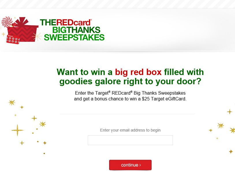 The REDcard Big Thanks Sweepstakes