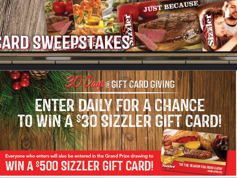 Sizzler's Gift Card Giving Sweepstakes