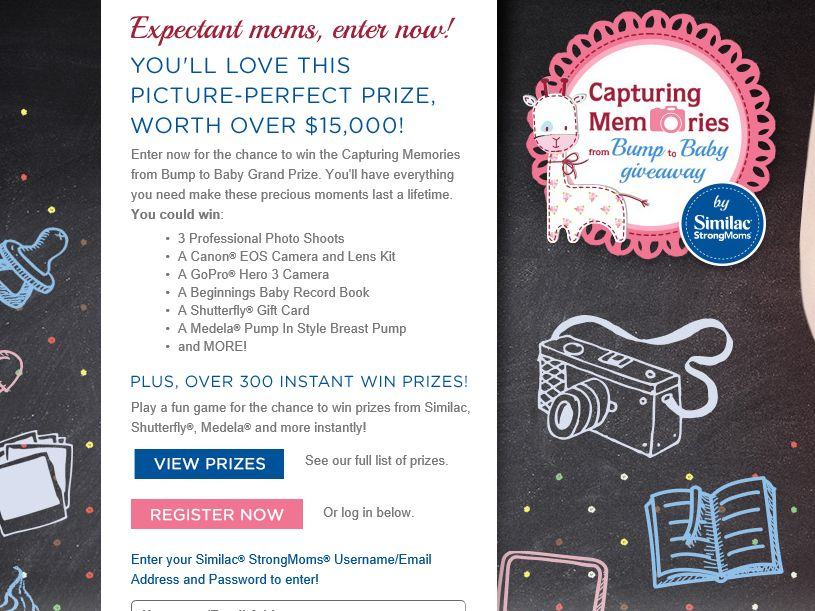 Similac Capturing Memories from Bump to Baby Giveaway