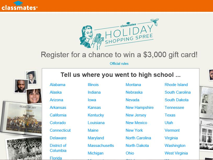 Classmates Holiday Shopping Spree Giveaway