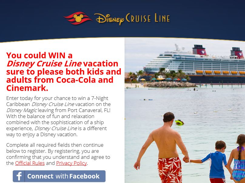 The 2014 Sail Away with Coca-Cola and Cinemark Sweepstakes