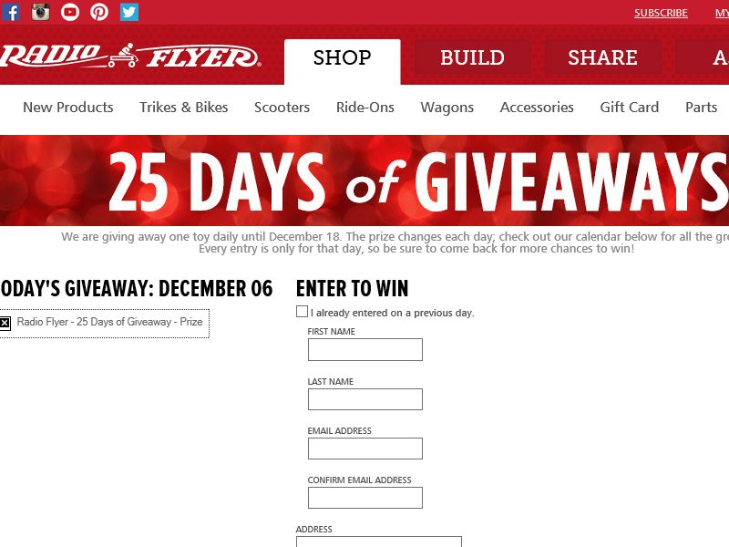 25 days of golden giveaways