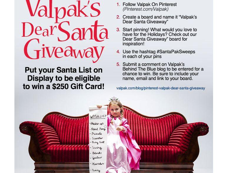 The Valpak Dear Santa Giveaway