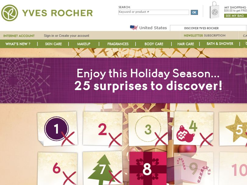"""The """"25 Days of Yves Rocher Gift Giving"""" Sweepstakes"""