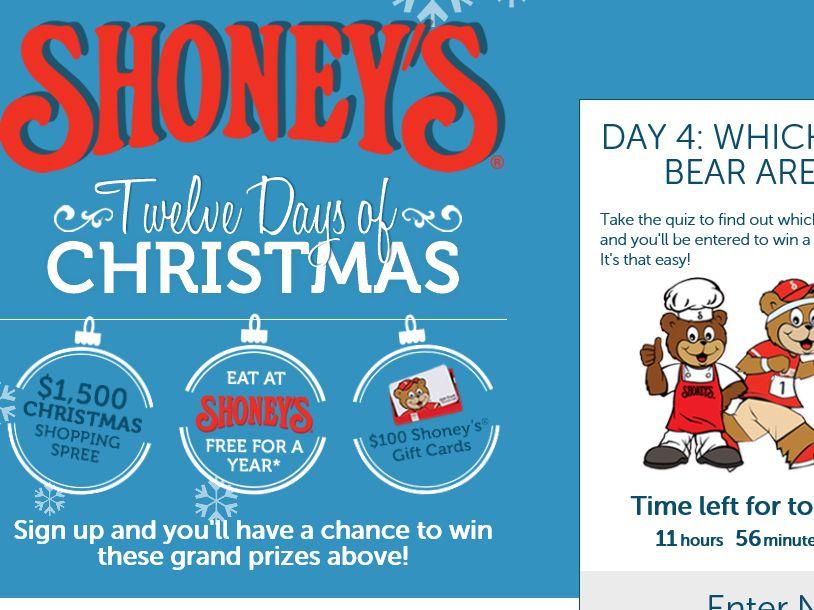 The Shoney's Twelve Days of Christmas Sweepstakes