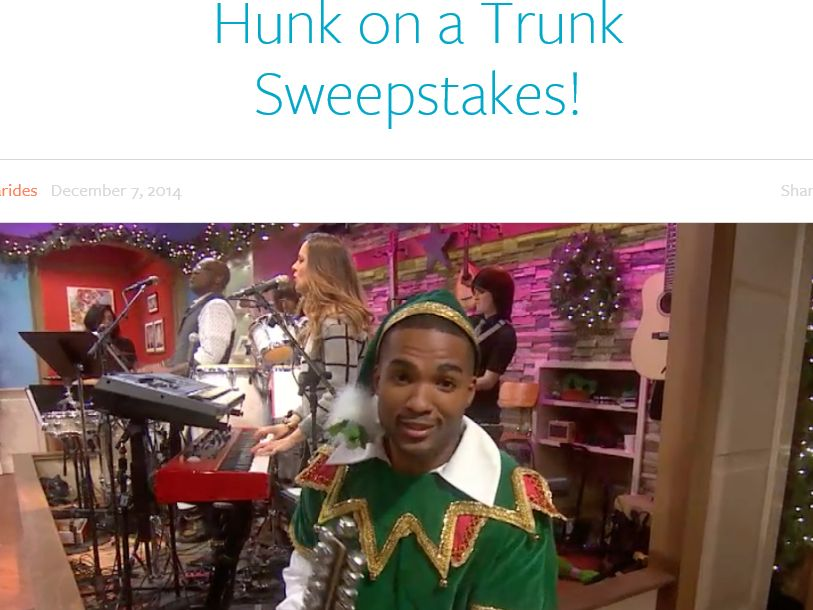 The Meredith Vieira Show: Find Hunk on a Trunk Sweepstakes