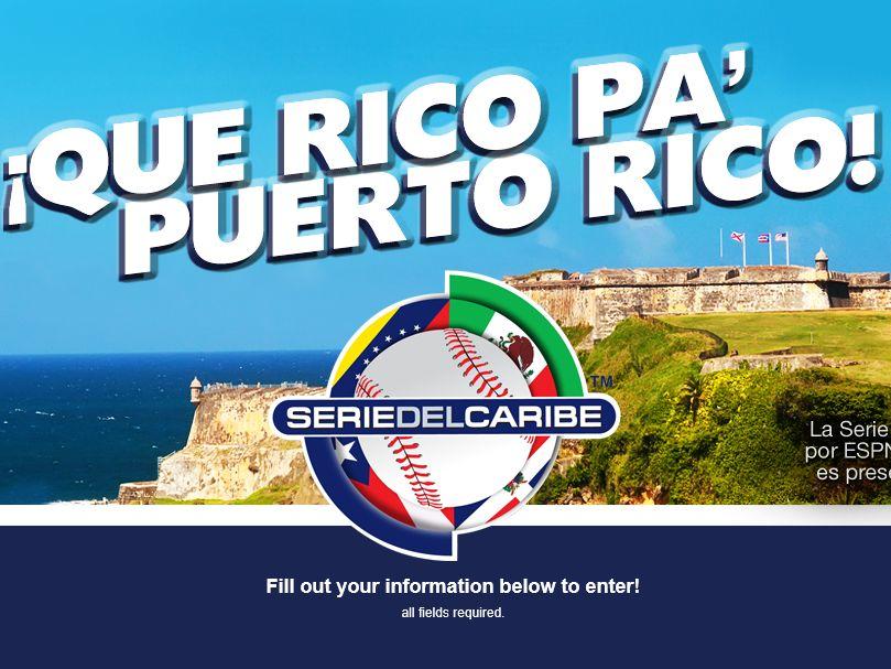 The Que Rico Pa' Puerto Rico Sweepstakes