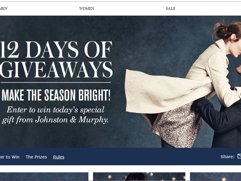Johnston & Murphy's 12 Days of Giveaways