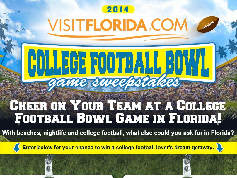 Florida College Football Bowl Game Sweepstakes – Select States