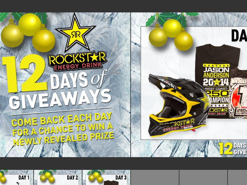 The Rockstar 12 Days of Giveaways Sweepstakes