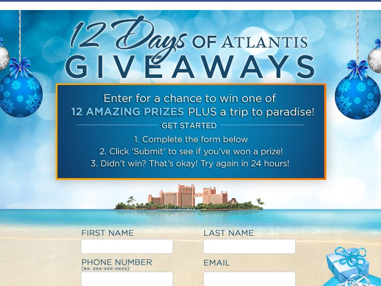 The 12 Days of Atlantis Giveaway