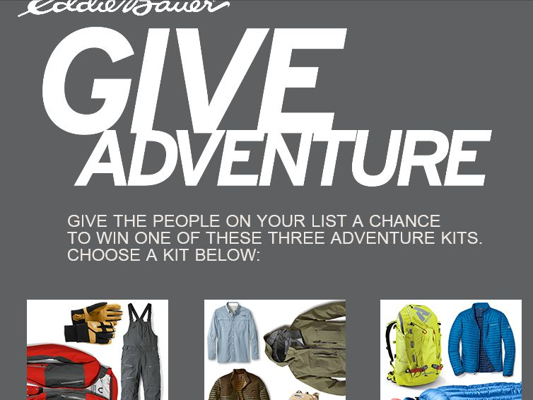 Eddie Bauer's Give Adventure Sweepstakes