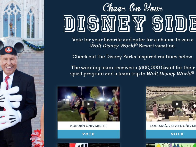 The ESPN Cheer Your Disney Side Promotion