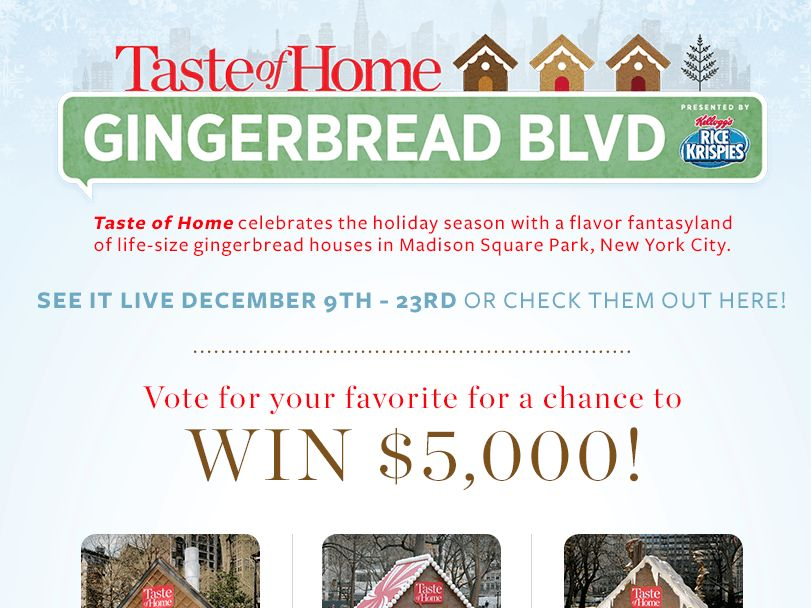 2014 Taste of Home Ginderbread Boulevard Giveaway