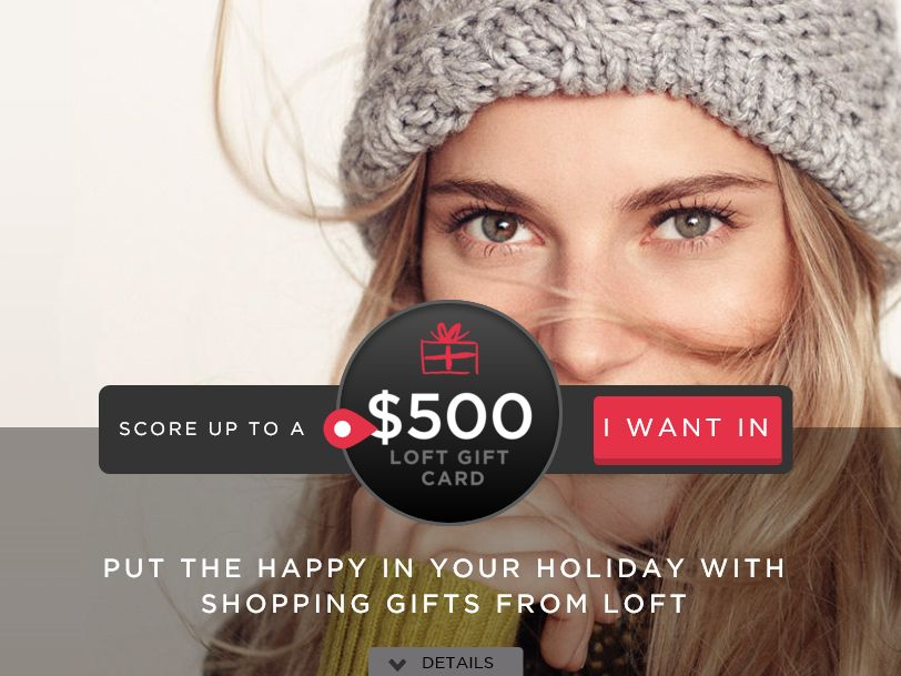 The LOFT Put the Happy In Your Holiday Sweepstakes