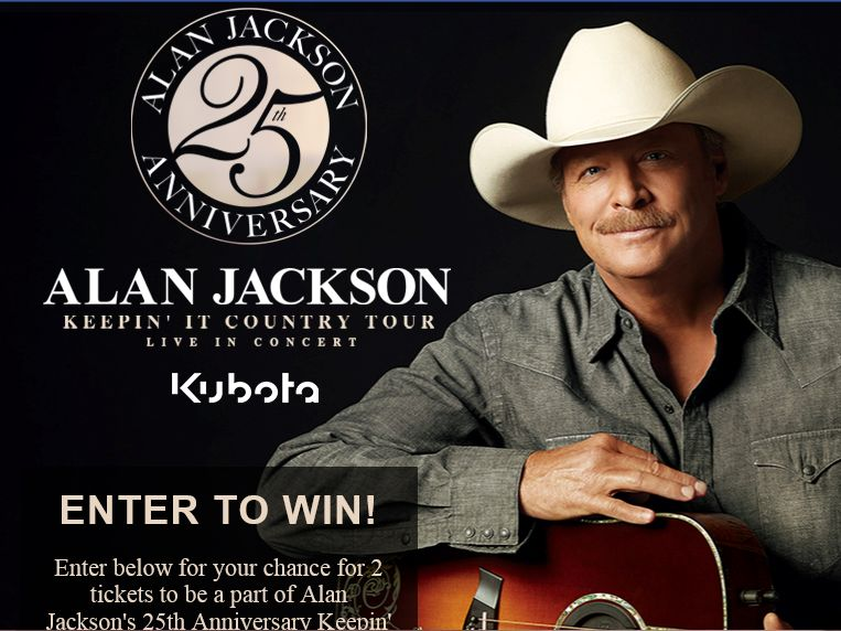 Alan Jackson 25th Anniversary Tour Ticket Giveaway