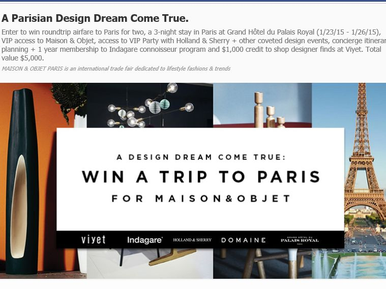 A Design Evening to Remember: Viyet + Holiday House Sweepstakes