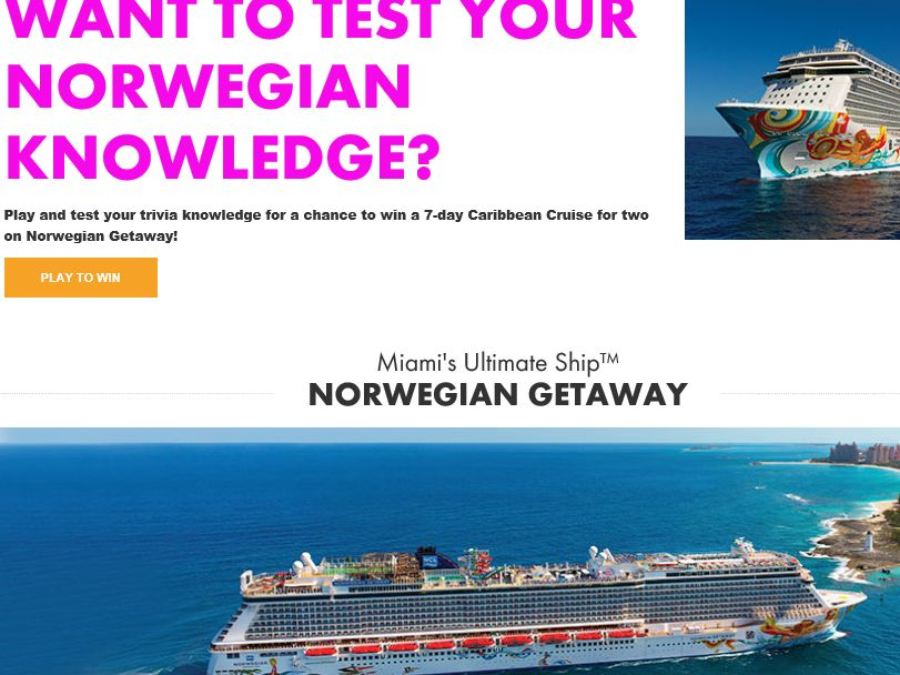 Norwegian's Prize Ride Sweepstakes