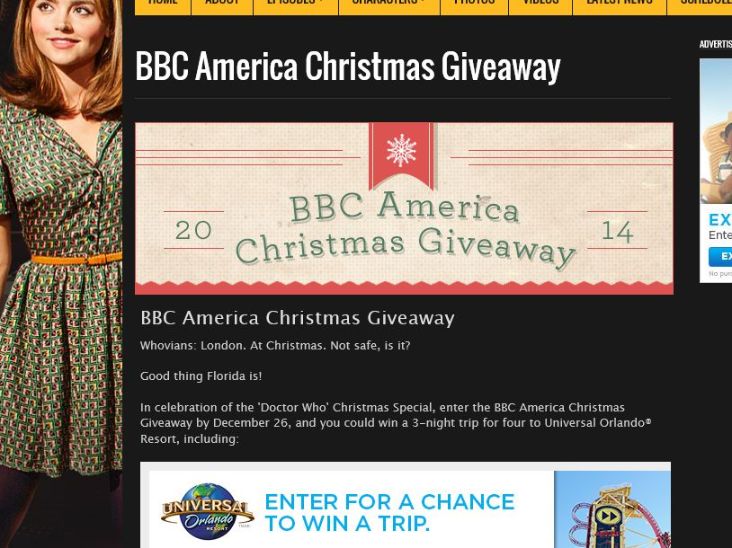 The BBC America Christmas Giveaway