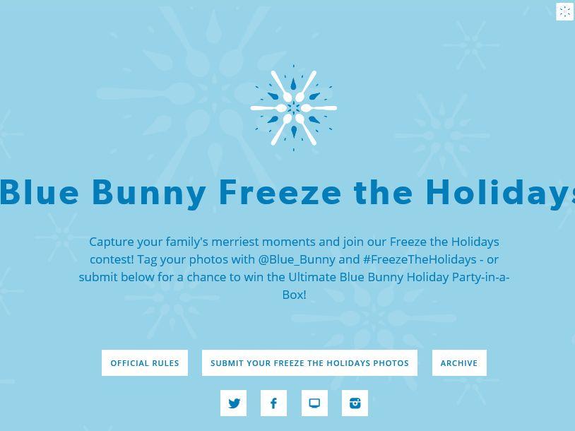"Blue Bunny ""Freeze The Holidays"" Promotion"
