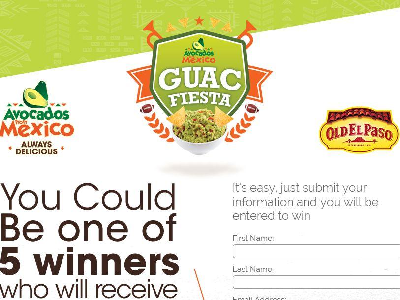 The Ultimate Guacamole Taco Fiesta Sweepstakes