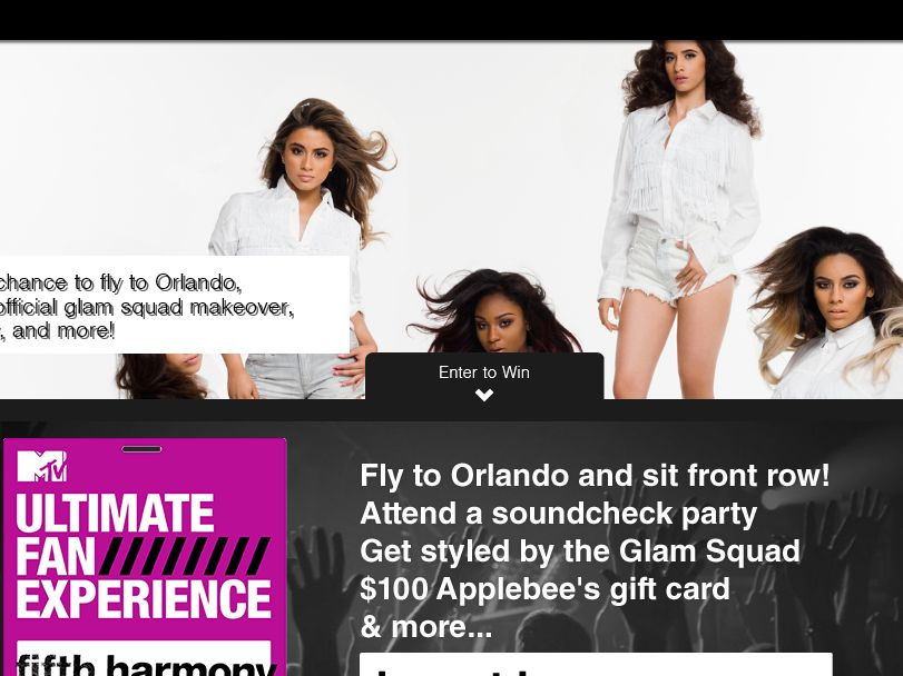 "The ""Ultimate Fan Sweepstakes Fifth Harmony"" Sweepstakes"