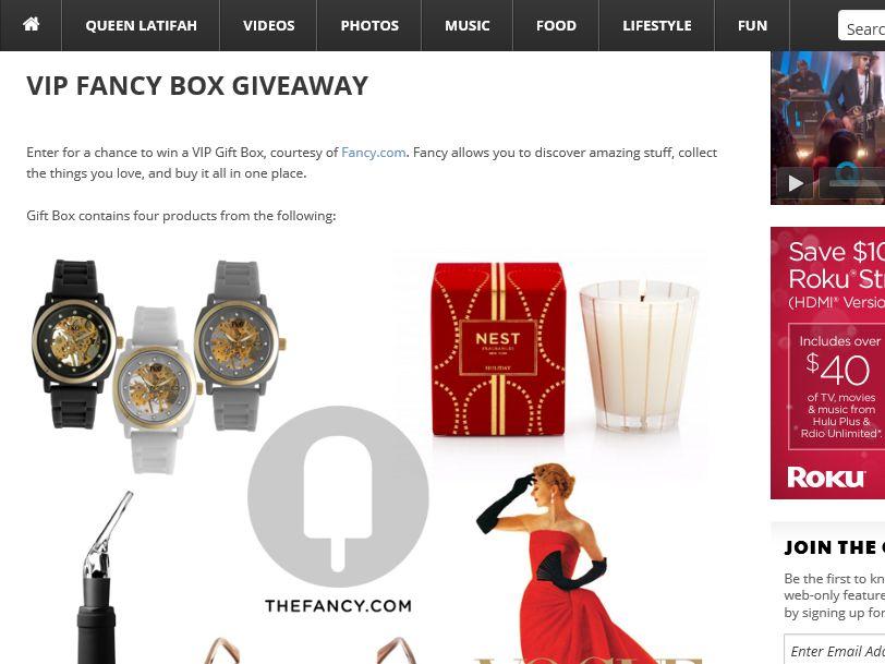 The Queen Latifah VIP Fancy Box Giveaway