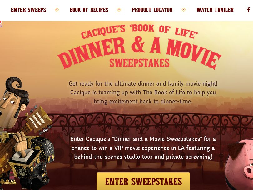 The Cacique Book of Life Sweepstakes