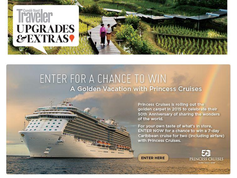 Princess Cruises January Sweepstakes