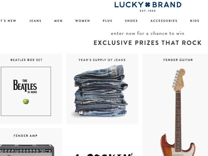 """LUCKY """"Have a Rocking New Year"""" Sweepstakes"""