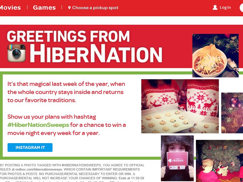 "The RedBox ""HiberNation"" Sweepstakes"