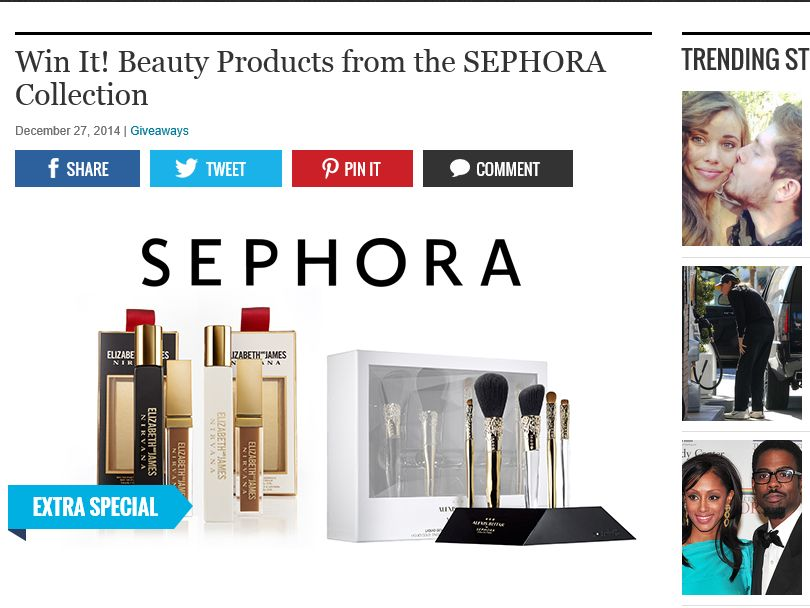 EXTRA Win It! Beauty Products from the SEPHORA Collection Sweepstakes