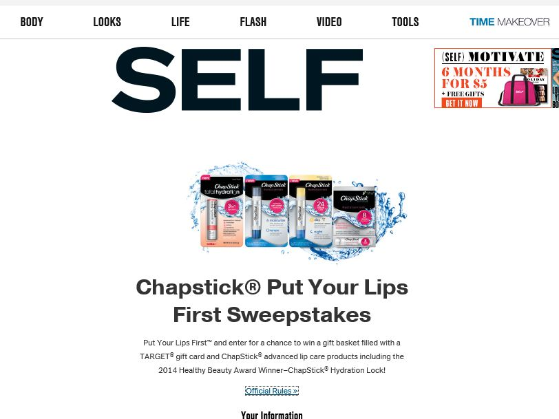 ChapStick Put Your Lips First Sweepstakes