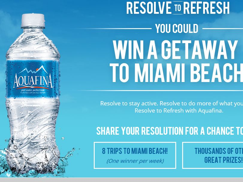 AQUAFINA Resolve to Refresh Sweepstakes