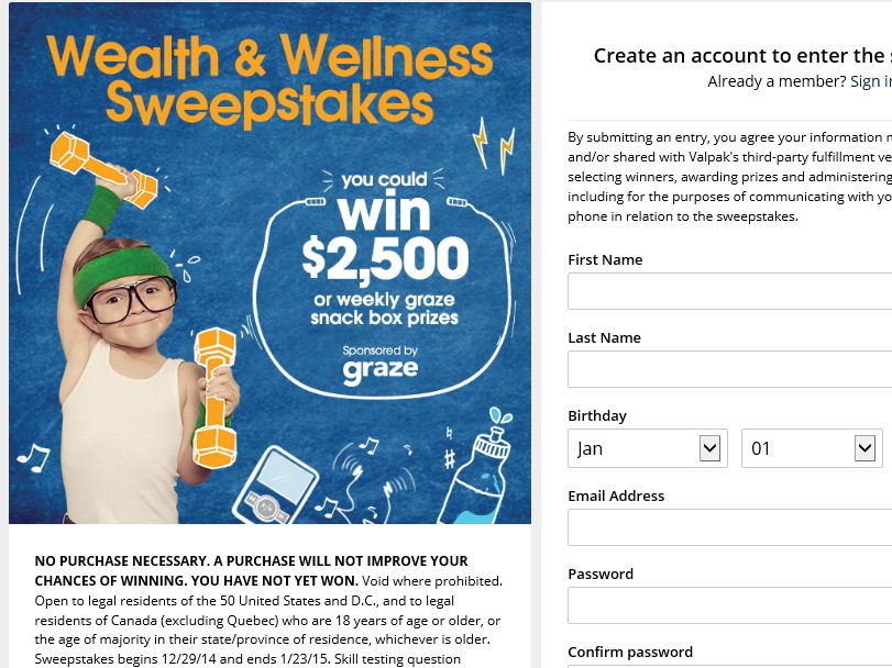 The Valpak Wealth and Wellness Sweepstakes