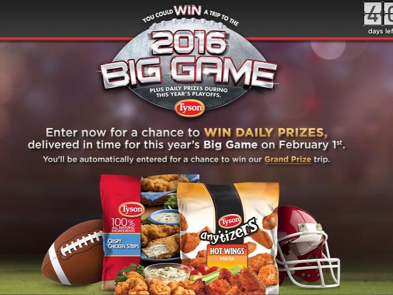 The Tyson BIG GAME Sweepstakes