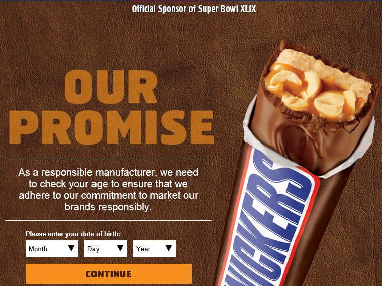 Snickers 2015 Super Bowl Satisfaction Sweepstakes