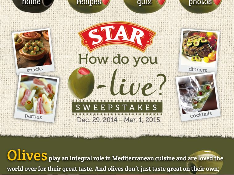"""The STAR """"How do you O-live?"""" Sweepstakes"""