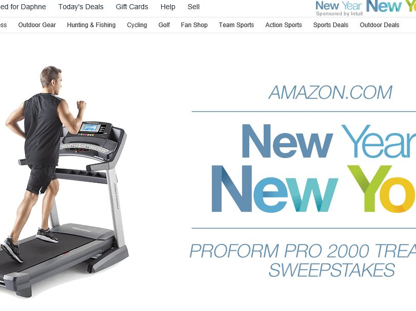 Amazon.com Win a ProForm Pro 2000 Treadmill Sweepstakes