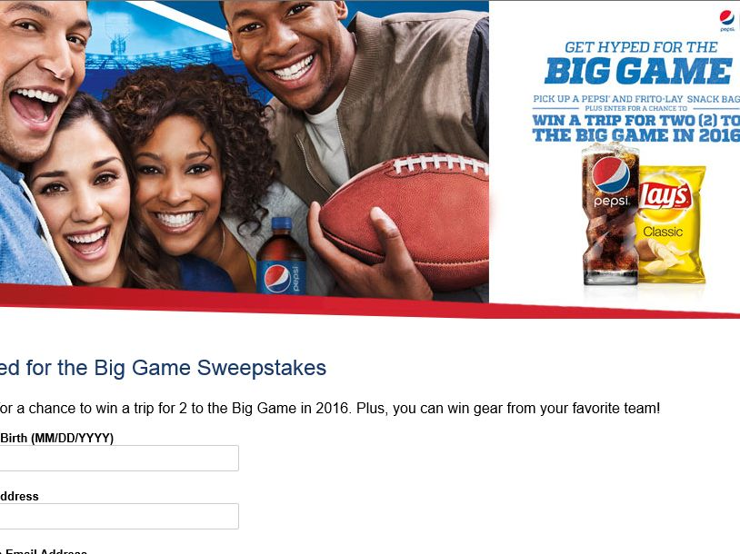 "PEPSI ""Hyped for the Big Game"" Sweepstakes"