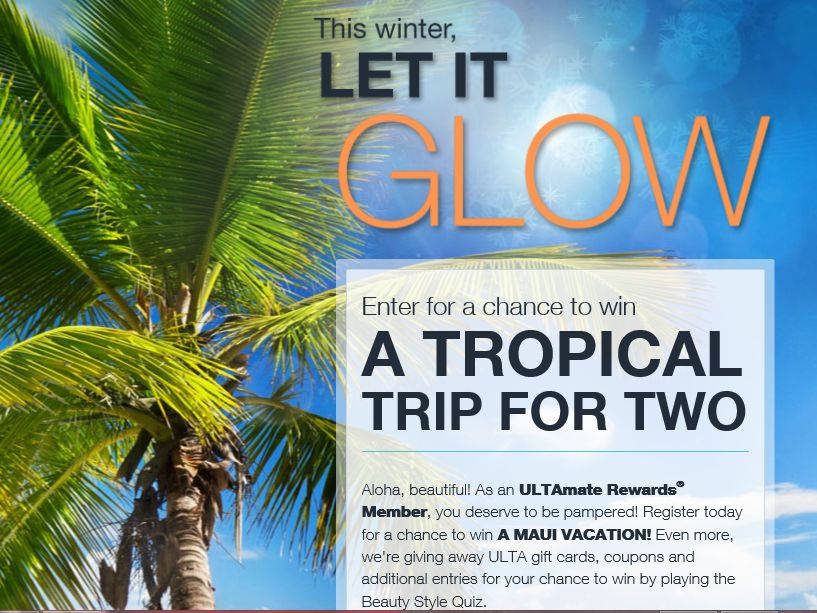 ULTA Let It Glow Sweepstakes